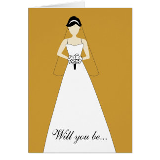Will You Be My Maid of Honour? White Gold Card