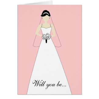 Will You Be My Maid of Honour? White Pink Card