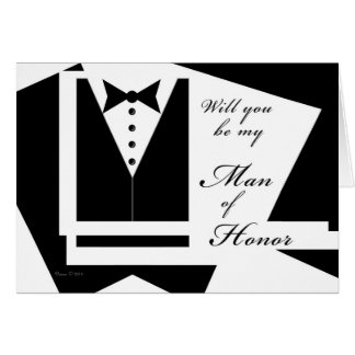 Will you be my Man of Honor Blank Card