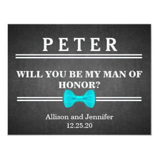 Will you be my Man of Honor? Personalized 11 Cm X 14 Cm Invitation Card