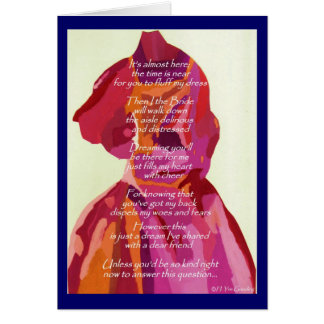 """""""Will You Be My Matron Of Honor"""" Autumn Card Greeting Cards"""