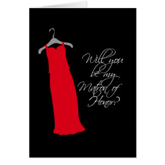 """Will you be my Matron of Honor?"" Card"