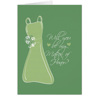 """""""Will you be my Matron of Honor?"""" Card"""