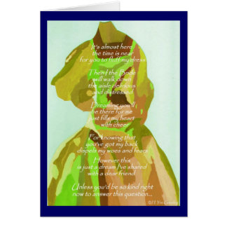 """""""Will You Be My Matron Of Honor"""" Spring Card Cards"""
