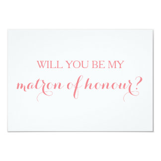 Will You Be My Matron of Honour Card Bridal Party