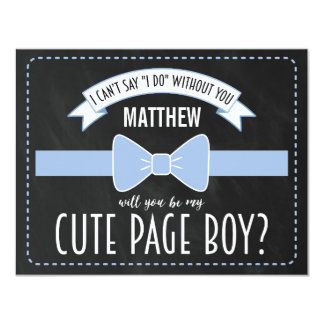WILL YOU BE MY PAGE BOY? | PAGE BOY 11 CM X 14 CM INVITATION CARD