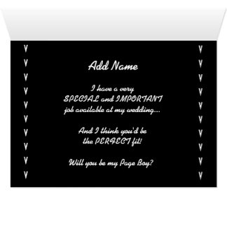 Will You Be My Page Boy Wedding Invitation V2 Greeting Card