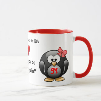 Will You Be My Penguin Mate for Life Proposal Love Mug