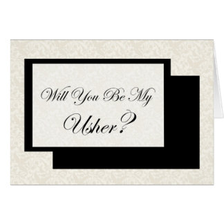 Will You Be My Usher? Card