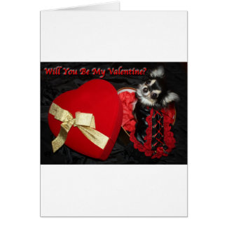 Will You Be My Valentine Chihuahua Greeting Card