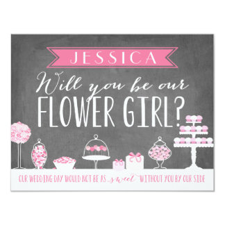 Will You Be Our Flower Girl | Bridesmaid 11 Cm X 14 Cm Invitation Card