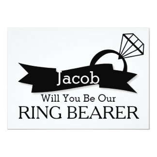 Will You Be Our Ring Bearer 13 Cm X 18 Cm Invitation Card