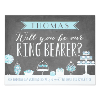 Will You Be Our Ring Bearer | Groomsman 11 Cm X 14 Cm Invitation Card