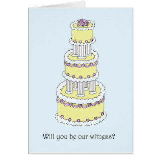 Will you be our witness? card