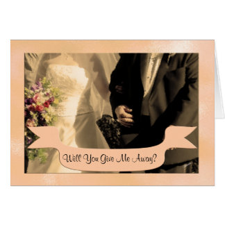 Will You Give me Away? Personalised Note Card