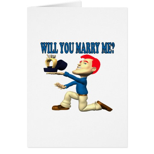 Will You Marry Me 12 Card