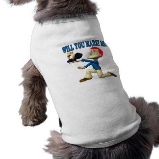 Will You Marry Me 12 Sleeveless Dog Shirt