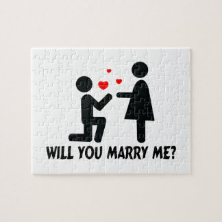 Will you marry me bended knee man amp woman jigsaw puzzle
