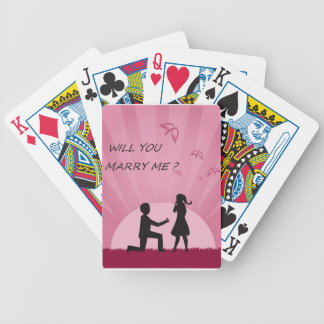 WILL YOU MARRY ME? BICYCLE PLAYING CARDS