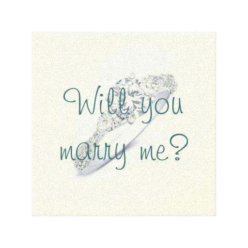 Will you marry me? gallery wrapped canvas