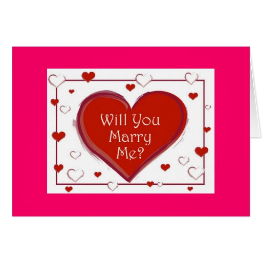 Will You Marry Me? Cards