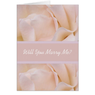 Will You Marry Me Card White Rose