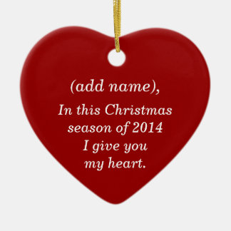 """""""WILL YOU MARRY ME"""" CHRISTMAS ORNAMENT"""