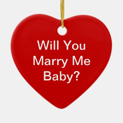 Will You Marry Me Christmas Ornaments