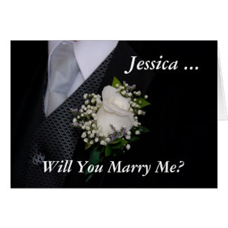 Will You Marry Me Greeting Card