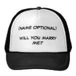 WILL YOU MARRY ME? - hat