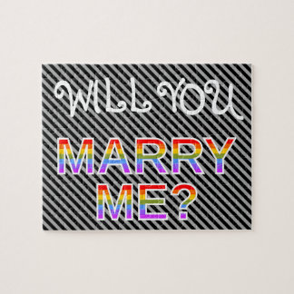 """WILL YOU MARRY ME?"" LGBQ Marriage Proposal Puzzles"