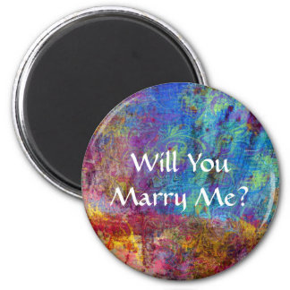 Will You Marry Me? 6 Cm Round Magnet