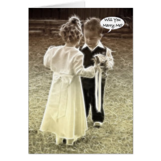 Will you marry me Marriage proposal Greeting Card