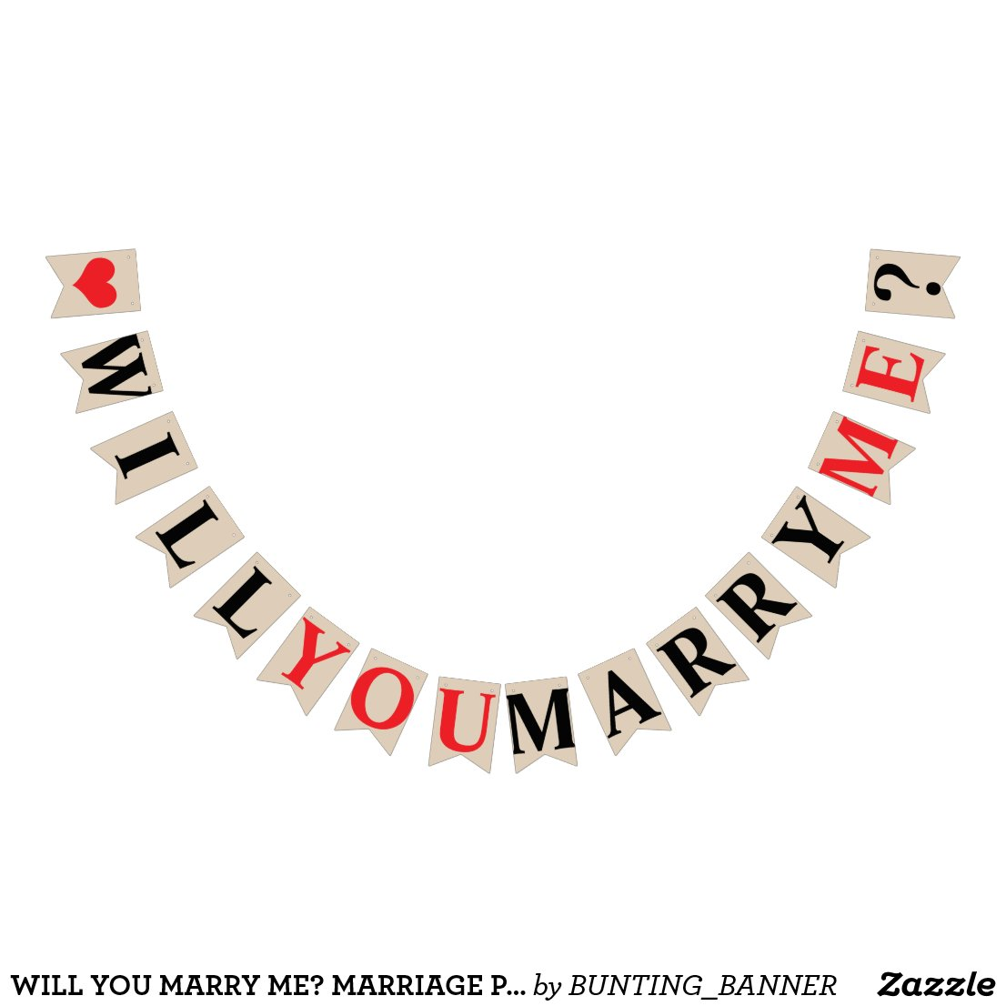 WILL YOU MARRY ME? MARRIAGE PROPOSAL - Khaki