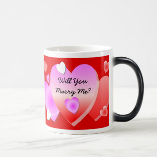 Will You Marry Me Morphing Mug Red Hearts