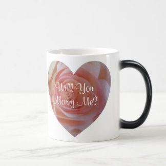 Will You Marry Me Morphing Mug Rose Heart