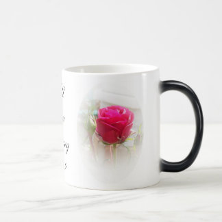 Will You Marry Me Morphing Mug Single Pink Rose