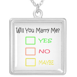 Will You Marry Me Necklace