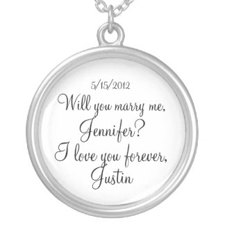 Will You Marry Me necklace (personalize)