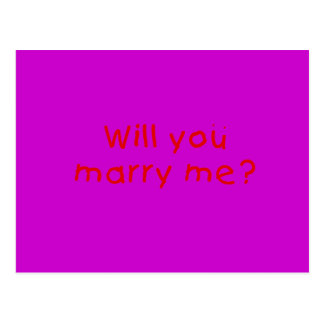 Will you marry me ? Photo Print Stamp Sticker Postcard