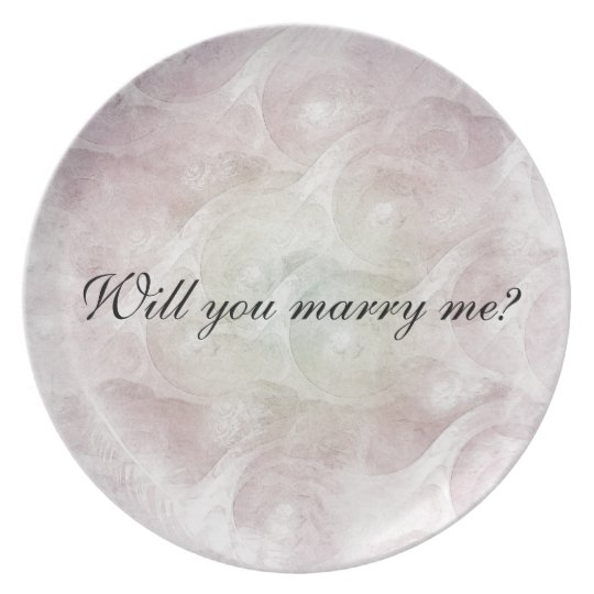 """""""Will you marry me?"""" Plate"""