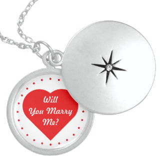Will You Marry Me? Round Locket Necklace