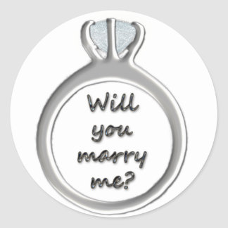 Will you marry me? round sticker