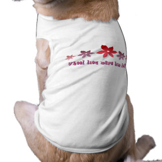 Will You Marry Me Sleeveless Dog Shirt