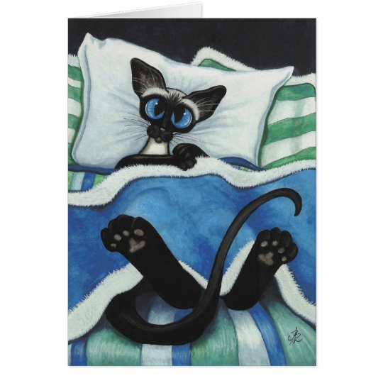 Will you tuck me in? Romantic Cat Card