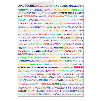 Willa Text Design II Vertical Greeting Card