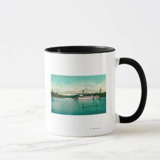 Willamette River and Steel Bridge in Albany Mug