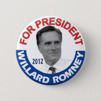 "Willard ""Mitt"" Romney 2012 6 Cm Round Badge"