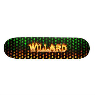 Willard skateboard fire and flames design.