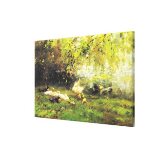 Willem Maris - Duck heaven Canvas Print